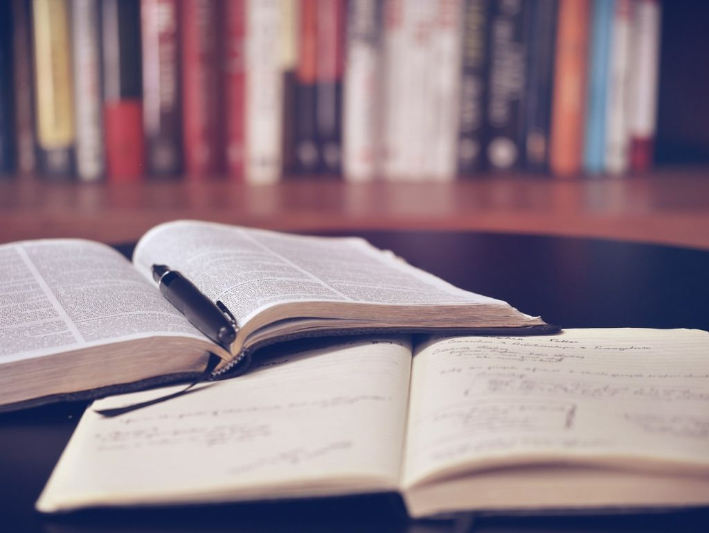 open book, library, education